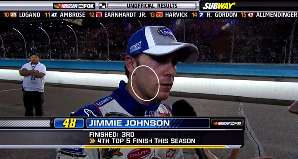 jimmie johnson 2010. on Jimmie Johnson#39;s face?